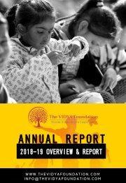 TVF ANNUAL REPORT 2018-19 final