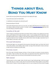 Things about Bail Bond You Must Know