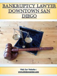 Bankruptcy Lawyer Downtown San Diego