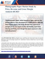 Photographic Paper Market Study by Price, Revenue and Gross Margin Analysis till 2023