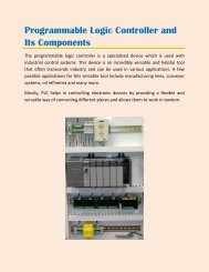 Programmable Logic Controller and Its Components