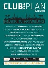 Clubplan Hamburg - Juni 2019