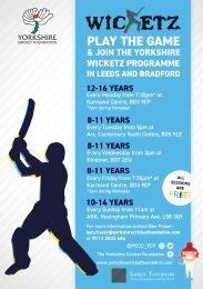 Wicketz Leeds  Bradford updated flyer 20.05.19