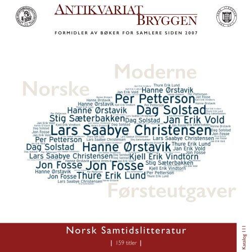 Antikvariat Bryggen - Katalog 111 - Norsk Samtidslitteratur