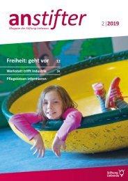Anstifter 2, 2019 der Stiftung Liebenau
