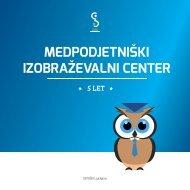 Medpodjetniški izobraževalni center: 5 let