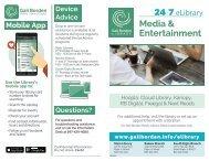 24/7 eLibrary Media Entertainment brochure