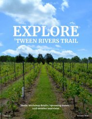 'Tween Rivers Trail EXPLORE Summer 2019