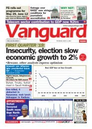 21052019 - FIRST QUARTER '19: Insecurity, election slow economic growth to 2%