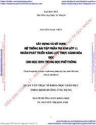 XÂY DỰNG VÀ SỬ DỤNG HỆ THỐNG BÀI TẬP PHẦN PHI KIM LỚP 11 NHẰM PHÁT TRIỂN NĂNG LỰC THỰC HÀNH HÓA HỌC