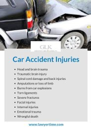 Types of Car Accident Injuries