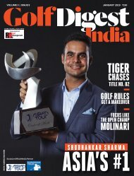 Golf Digest India, January 2019