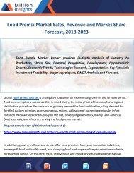 Food Premix Market Sales, Revenue and Market Share Forecast, 2018-2023