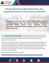 LED Agricultural Grow Lights Market Share, Size, Exponential Growth and Trend Forecasts, 2018-2023