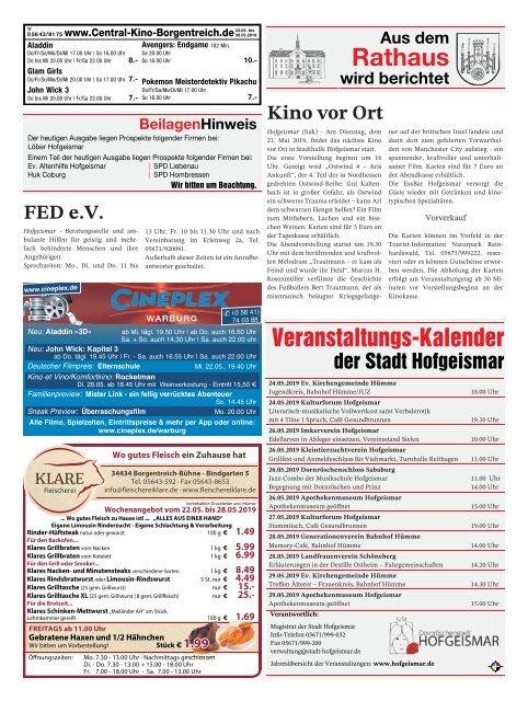 Hofgeismar Aktuell 2019 KW 21