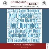 Antikvariat Bryggen - Katalog 106 - Norske Førsteutgaver