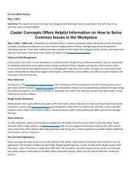 Caster Concepts Offers Helpful Information on How to Solve Common Issues in the Workplace