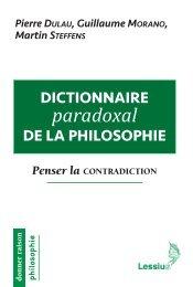 Dictionnaire paradoxal de la philosophie. Penser la contradiction