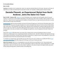 Danielle Placenti, an Experienced Stylist from North Andover, Joins the Salon Invi Team