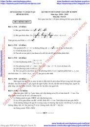 Bộ đề thi chính thức vào lớp 10 Môn Toán - Ngữ Văn - Tiếng Anh Năm học 2018 - 2019 (Hệ không chuyên) có lời giải chi tiết