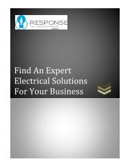 Find An Expert Electrical Solutions For Your Business