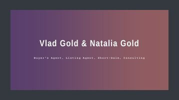Vlad & Natalia Gold - Real Estate Agent in Beverly Hills, CA