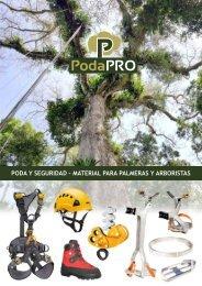 PODAPRO Catálogo - Equipamiento Poda - Arboricultura - Equipo Palmeras - Bicicleta Poda Palmeras