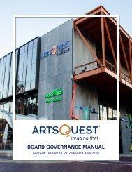 ArtsQuest Board Governance Manual
