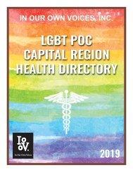 LGBT POC HEALTH DIRECTORY 2019 PRINT