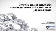 Network Repairs introduces Customized Cloud Computing Plans for SMBs in GTA
