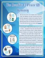 The Benefits Of Power BI Training
