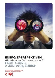 ENERGIEPERSPEKTIVEN Wie Sieht Unsere Energie-Zukunft Aus?