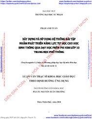 XÂY DỰNG VÀ SỬ DỤNG HỆ THỐNG BÀI TẬP NHẰM PHÁT TRIỂN NĂNG LỰC TỰ HỌC CHO HỌC SINH THÔNG QUA DẠY HỌC PHẦN PHI KIM LỚP 10 TRUNG HỌC PHỔ THÔNG