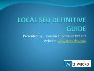 LOCAL SEO DEFINITIVE GUIDE