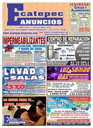 Ecatepec Anuncios Mayo 2019