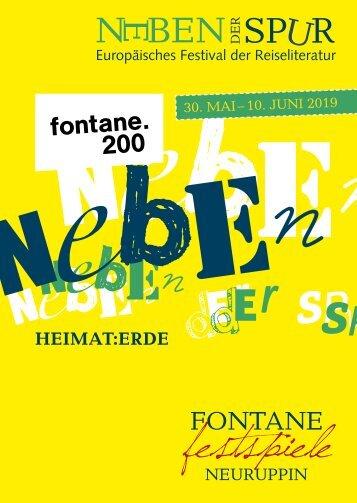 NEBEN DER SPUR 2019 - Das Europäische Festival der Reiseliteratur