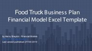 Food Truck Financial Model How To Methodology