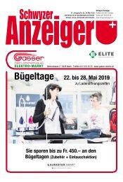 Schwyzer Anzeiger – Woche 21 – 24. Mai 2019