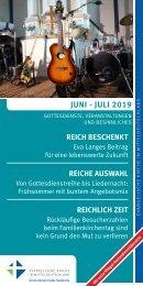 Veranstaltungsprogramm des Evangelischen Kirchenkreises Halle-Saalkreis für Juni und Juli 2019