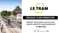 Séance d'information  sur le Tronçon rue Léopold - rue de la Cité- Quai de la Batte et Quai Maestricht
