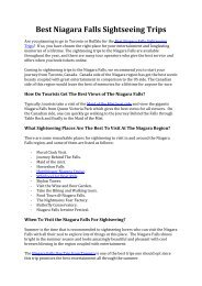 Best Niagara Falls Sightseeing Trips