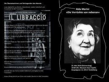 """Alda Merini, """"Die Verrückte von nebenan"""""""