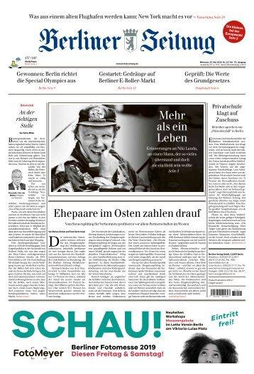 Berliner Zeitung 22.05.2019