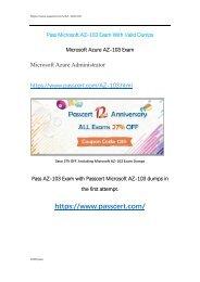 Microsoft AZ-103 Real Dumps With Correct Answers