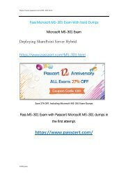 Microsoft MS-301 Real Dumps With Correct Answers