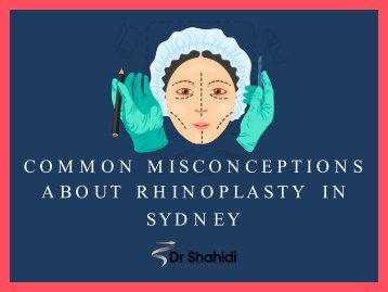 Common Misconceptions About Rhinoplasty in Sydney