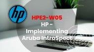 HPE2-W05 Exam Dumps