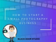 How To Start A Small Photography Business