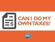 Can I Do My Own Taxes