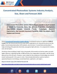 Concentrated Photovoltaic Systems Industry Analysis, Size, Share and Forecast 2025